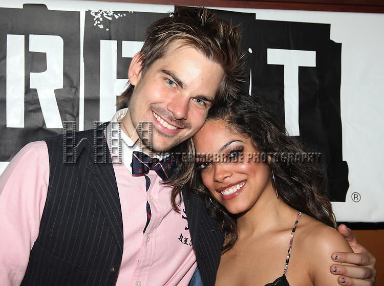 Matt Shingledecker & Arianda Fernandez.attending the Off-Broadway Opening Night After Party for 'RENT' at Glass House Tavern in New York City....