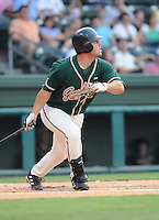 August 13, 2009: Infielder Ryan Keedy (33) of the Greensboro Grasshoppers, Class A affiliate of the Florida Marlins, in a game at Fluor Field at the West End in Greenville, S.C. Photo by: Tom Priddy/Four Seam Images