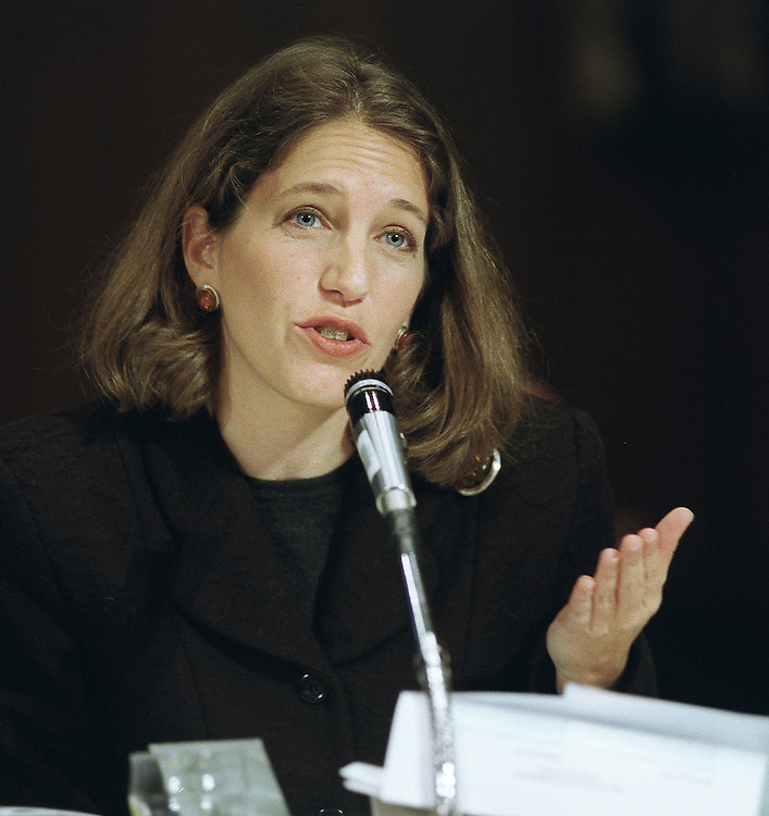 2/2/99.BUDGET 2000 HEARING--OMB deputy director Sylvia Mathews during a hearing before the Senate Finance Committee on President Bill Clinton's fiscal year 2000 budget proposal.  .CONGRESSIONAL QUARTERLY PHOTO BY SCOTT J. FERRELL