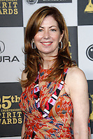 US actress Dana Delany arrives at the 25th Independent Spirit Awards held at the Nokia Theater in Los Angeles on March 5, 2010. The Independent Spirit Awards is a celebration honoring films made by filmmakers who embody independence and originality..Photo by Nina Prommer/Milestone Photo