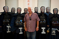 RMT General Secretary Bob Crow visits a Kendo club in Sommerstown north London 26-7-12 The union made a donation to the project.