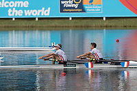 Sarasota. Florida USA.  LM2X. Gold Medalis FRA LM2X. Bow. Pierre<br /> HOUIN and Jeremie<br /> AZOU, Final A. 2017 World Rowing Championships, Nathan Benderson Park<br /> <br /> Saturday  30.09.17   <br /> <br /> [Mandatory Credit. Peter SPURRIER/Intersport Images].<br /> <br /> <br /> NIKON CORPORATION -  NIKON D500  lens  VR 500mm f/4G IF-ED mm. 320 ISO 1/1000/sec. f 6.3