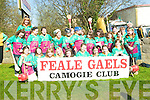 The Feale Gaels Camogie team flew their flag at the Listowel St Patrick's Day Parade on Tuesday.