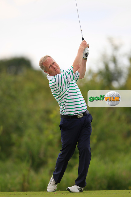 Tom Byrne (Greystones) on the 13th tee during Round 1 of the Leinster Seniors Amateur Open Championship at Enniscorthy Golf Club on Tuesday 23rd June 2015.<br /> Picture:  Thos Caffrey / www.golffile.ie