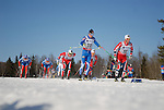 FALUN, SWEDEN - March 23: (R-L) Martin Johnsrud Sundby of Norway (NOR, Matti Heikkinen of Finland (FIN) and Eldar Roenning of Norway (NOR) during the Viessmann Men Classic Mass start 15km race at the FIS Cross Country World Cup Final on March 23, 2013 in Falun, Sweden. The race was won by Eldar Roenning of Norway (NOR) , 2nd place Maxim Vylegzhanin of Russia (RUS) and 3rd place Martin Johnsrud Sundby of Norway (NOR). (Photo by Dirk Markgraf)