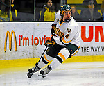 7 February 2009: University of Vermont Catamount defenseman Patrick Cullity, a Junior from Tewsbury, MA, in action against the Providence College Friars during the second game of a weekend series at Gutterson Fieldhouse in Burlington, Vermont. The Catamounts swept the 2-game series notching 4-1 wins in both games. Mandatory Photo Credit: Ed Wolfstein Photo