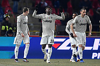 Kean Moise of Juventus celebrates after scoring second goal for his side during the Italy Cup 2018/2019 football match between Bologna and Juventus at stadio Renato Dall'Ara, Bologna, January 12, 2019 <br />  Foto Andrea Staccioli / Insidefoto