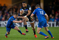 Bath Rugby's Joe Cokanasiga in action during todays match<br /> <br /> Photographer Bob Bradford/CameraSport<br /> <br /> Heineken Champions Cup Pool 1 - Bath v Leinster - Saturday 8th December 2018 - The Recreation Ground - Bath<br /> <br /> World Copyright © 2018 CameraSport. All rights reserved. 43 Linden Ave. Countesthorpe. Leicester. England. LE8 5PG - Tel: +44 (0) 116 277 4147 - admin@camerasport.com - www.camerasport.com