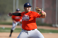 January 17, 2010:  Jordan Suarez (Cooper City, FL) of the Baseball Factory Florida Team during the 2010 Under Armour Pre-Season All-America Tournament at Kino Sports Complex in Tucson, AZ.  Photo By Mike Janes/Four Seam Images