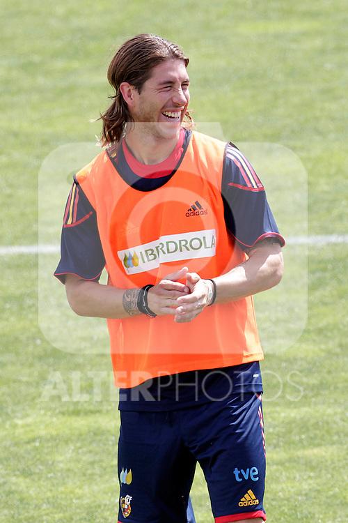 MADRID (25/05/09).- The Spanish Soccer national training session.  Sergio Ramos...PHOTO: Cesar Cebolla / ALFAQUI