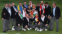 European Team players, Captain and Vice-Captains with the Trophy as they win the 2014 Ryder Cup from Gleneagles, Perthshire, Scotland. Picture:  David Lloyd / www.golffile.ie