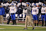 San Jose State's Head Coach Ron Caragher works the sidelines during the first half of an NCAA college football game against Nevada in Reno, Nev., on Saturday, Nov. 16, 2013. (AP Photo/Cathleen Allison)