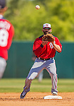 7 March 2013: Washington Nationals infielder Danny Espinosa in action during a Spring Training game against the Houston Astros at Osceola County Stadium in Kissimmee, Florida. The Astros defeated the Nationals 4-2 in Grapefruit League play. Mandatory Credit: Ed Wolfstein Photo *** RAW (NEF) Image File Available ***