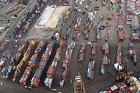Vista aerea del Muelle de Haina y la planta de suministro de electricidad Itabo 11..Lugar:Santo Domingo, RD.Foto:Cesar de la Cruz.Fecha:.