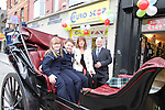Les Cooling of Eurostop with his family, Antoinette, Hannah and Daniel at the Official Launch of the North Quay Retail Event...Picture Jenny Matthews/Newsfile.ie