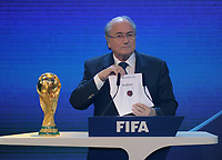 2nd december 2010, Zurich -  FIFA World Cup selection for 2018 and 2022 - FIFA President Joseph Sepp Blatter (SUI) announces Russia for the  2018 event; On April 6th 2020, in addition to Ricardo Teixeira, the former president of the Brazilian Football Confederation and the now-deceased ex-COMNEBOL president Nicolas Leoz and a co-conspirator, two former Fox employees have been indicted as part of the investigation into corruption by US official, which claims that Russia and Qatar offered and paid bribes to secure votes in the process that saw them awarded the 2018 and 2022 World Cups,  an indictment in the United States alleges. The document, was brought by federal prosecutors in New York as part of the long-running investigation into corruption surrounding football's governing body