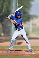 Los Angeles Dodgers second baseman Deion Ulmer (84) during an Instructional League game against the Cincinnati Reds on October 11, 2014 at Goodyear Training Complex in Goodyear, Arizona.  (Mike Janes/Four Seam Images)