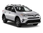 2016 Toyota RAV 4 SE 5 Door SUV angular front stock photos of front three quarter view