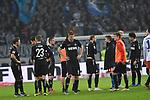 05.11.2018,  GER; 2. FBL, Hamburger SV vs 1.FC Koeln 1848 ,DFL REGULATIONS PROHIBIT ANY USE OF PHOTOGRAPHS AS IMAGE SEQUENCES AND/OR QUASI-VIDEO, im Bild die Mannschaft von Koeln laesst die Koepfe haengen nach der Niederlage Foto © nordphoto / Witke *** Local Caption ***
