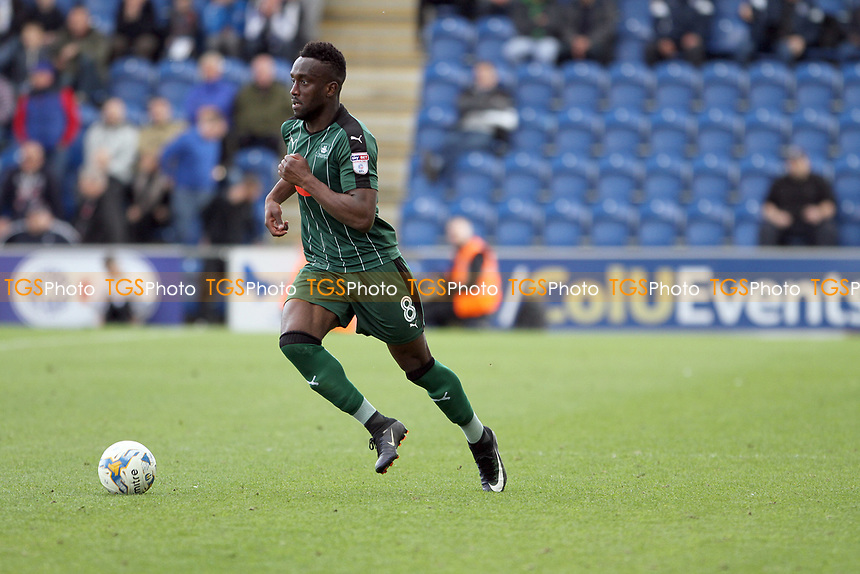 Jordan Slew of Plymouth Argyle runs with the ball during Colchester United vs Plymouth Argyle, Sky Bet EFL League 2 Football at the Weston Homes Community Stadium on 22nd April 2017