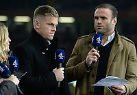 Ex Wales player Jamie Roberts and current Wales player Gareth Anscombe<br /> <br /> Photographer Ian Cook/CameraSport<br /> <br /> 2019 Autumn Internationals - Wales v Barbarians - Saturday 30th November 2019 - Principality Stadium - Cardifff<br /> <br /> World Copyright © 2019 CameraSport. All rights reserved. 43 Linden Ave. Countesthorpe. Leicester. England. LE8 5PG - Tel: +44 (0) 116 277 4147 - admin@camerasport.com - www.camerasport.com