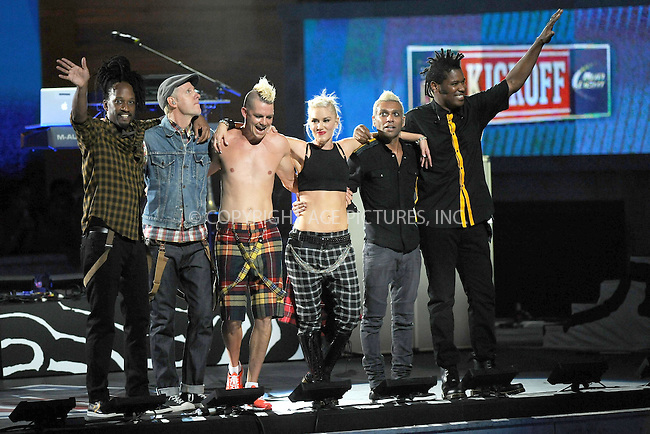 WWW.ACEPIXS.COM . . . . . .September 5, 2012...New York City.... No Doubt performs onstage during the 2012 NFL Kick-Off Concert in Rockefeller Center on September 5, 2012 in New York City....Please byline: KRISTIN CALLAHAN - ACEPIXS.COM.. . . . . . ..Ace Pictures, Inc: ..tel: (212) 243 8787 or (646) 769 0430..e-mail: info@acepixs.com..web: http://www.acepixs.com .