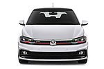 Car photography straight front view of a 2018 Volkswagen Polo GTI 5 Door Hatchback