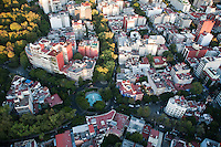 Plaza Citlatepetle, La Condesa. Aerial photos of Mexico City, Mexico