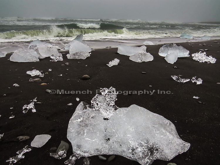 Ice on Jokulsarlon,Glacial River Lagoon,Iceland