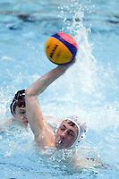 PICTURE BY ALEX WHITEHEAD/SWPIX.COM - Water Polo - Water Polo National Age Group Championships 2013 - Manchester Aquatics Centre, Manchester, England - 28/04/13 - Manchester (white) v Birmingham (blue) in the Junior Boys final.
