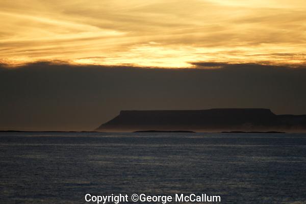 Kvitoya in Svalbard archipeligo at sunset  Kvitoya, Arctic Ocean