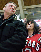 Michaud's father, Richter's mother - The Harvard University Crimson defeated the St. Lawrence University Saints 4-3 on senior night Saturday, February 26, 2011, at Bright Hockey Center in Cambridge, Massachusetts.