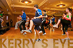 ITT students attending the Body Combat workshop by Giovanni Sacco during the FITTSPORT convention on Friday.