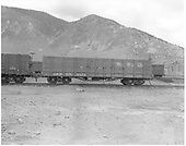Side view of D&amp;RGW high-side gondola #9571, possibly at Silverton.<br /> D&amp;RGW  Silverton ?, CO  ca. 1947