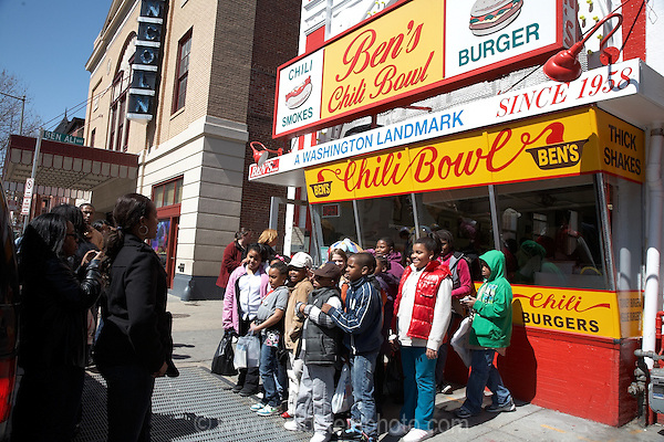 Ben's Chili Bowl is a restaurant in Washington DC that is a local institution. It recently became famous worldwide when President Obama ate there. Bill Cosby has also eaten there.