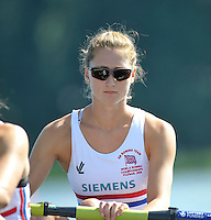 Poznan, POLAND,   GBR W2-, Bow, Olivia WHITLAM, competing in the heats of the women's pair, on the first day of the, 2009 FISA World Rowing Championships. held on the Malta Rowing lake, Sunday 23/08/2009 [Mandatory Credit. Peter Spurrier/Intersport Images]