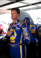 Sept. 19, 2008; Dover, DE, USA; Nascar Sprint Cup Series driver Michael Waltrip during practice for the Camping World RV 400 at Dover International Speedway. Mandatory Credit: Mark J. Rebilas-