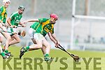 Sean Maunsell Kilmoyley in action against  Ballyduff in the County Senior Hurling Final at Austin Stack Park on Sunday.
