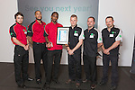 17/07/2015 The IRTE Skills Challenge 2015 prize-giving takes place at The National Motorcycle Museum, Birmingham. Team Tower Transit with their awards.