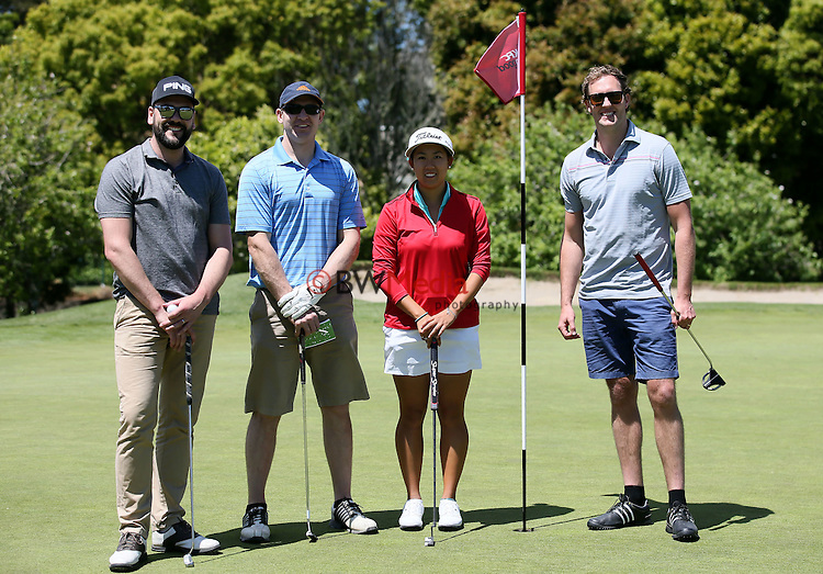 Team KFC with Liv Cheng of New Zealand during the Anita Boon Pro-am, North Shore Golf Club, Auckland, New Zealand. Friday 13 November 2015. Photo: Simon Watts/www.bwmedia.co.nz <br /> All images &copy; BWMedia.co.nz
