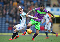 Blackburn Rovers Harrison Reed battles with  Bristol City's Marlon Pack<br /> <br /> Photographer Mick Walker/CameraSport<br /> <br /> The EFL Sky Bet Championship - Blackburn Rovers v Bristol City - Saturday 9th February 2019 - Ewood Park - Blackburn<br /> <br /> World Copyright &copy; 2019 CameraSport. All rights reserved. 43 Linden Ave. Countesthorpe. Leicester. England. LE8 5PG - Tel: +44 (0) 116 277 4147 - admin@camerasport.com - www.camerasport.com