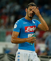 Manolo Gabbiadini during the friendly soccer match,between SSC Napoli and Onc Nice      at  the San  Paolo   stadium in Naples  Italy , August 02, 2016<br />  during the friendly soccer match,between SSC Napoli and Onc Nice      at  the San  Paolo   stadium in Naples  Italy , August 02, 2016
