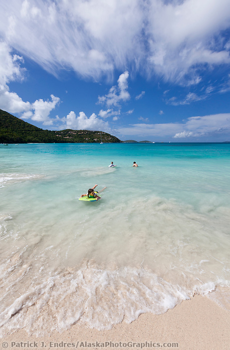 Cinamon beach on the island of St. John, Virgin Islands.