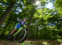NWA Democrat-Gazette/BEN GOFF @NWABENGOFF<br /> Racers compete Sunday, June 11, 2017, during the Battle for Townsend's Ridge mountain bike race at Hobbs State Park - Conservation Area near Rogers. The cross country race, presented by Ozark Off Road Cyclists, is part of the Arkansas Mountain Bike Championship Series. This year entry fees for racers 14 and younger were covered by Ozark Off Road Cyclists.
