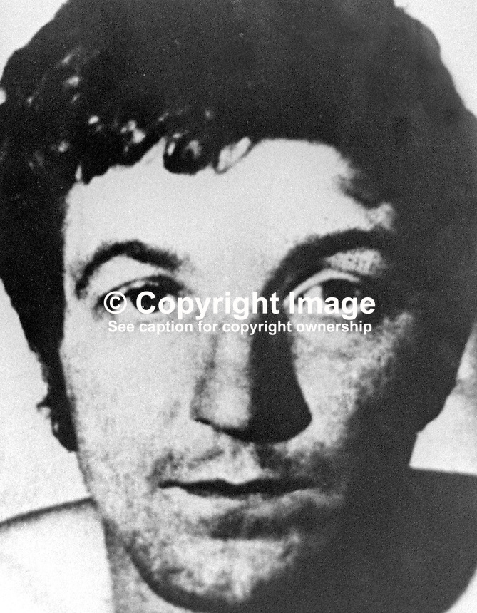 Paul Holmes, 19 years, tiler,Butler Street, Belfast, N Ireland, defendant London Bombs Trial. Holmes, along with five other men and two women was convicted of exploding two Provisional IRA car bombs in March 1973 . 197311050685<br /> <br /> Copyright Image from Victor Patterson, 54 Dorchester Park, <br /> Belfast, UK, BT9 6RJ<br /> <br /> t1: +44 28 9066 1296 (from Rep of Ireland 048 9066 1296)<br /> t2: +44 28 9002 2446 (from Rep of Ireland 048 9002 2446)<br /> m: +44 7802 353836<br /> <br /> e1: victorpatterson@me.com<br /> e2: victorpatterson@gmail.com<br /> <br /> www.victorpatterson.com<br /> <br /> Please see my Terms and Conditions of Use at www.victorpatterson.com. It is IMPORTANT that you familiarise yourself with them.<br /> <br /> Images used on the Internet must be visibly watermarked i.e. &copy; Victor Patterson within the body of the image and copyright metadata must not be deleted. Images used on the Internet have a size restriction of 4kbs and will be chargeable at current NUJ rates unless agreed otherwise.<br /> <br /> This image is only available for the use of the download recipient i.e. television station, newspaper, magazine, book publisher, etc, and must not be passed on to any third party. It is also downloaded on condition that each and every usage is notified within 7 days to victorpatterson@me.com<br /> <br /> The right of Victor Patterson to be identified as the author is asserted in accordance with The Copyright Designs And Patents Act (1988).