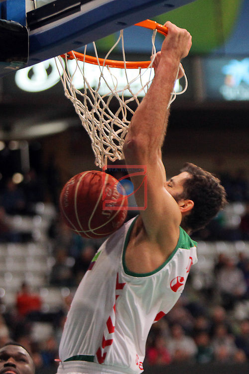 League ACB-Endesa 2015-2016. Game: 16.<br /> FIATC Joventut vs Laboral Kutxa Baskonia: 68-89.<br /> Bourousis.