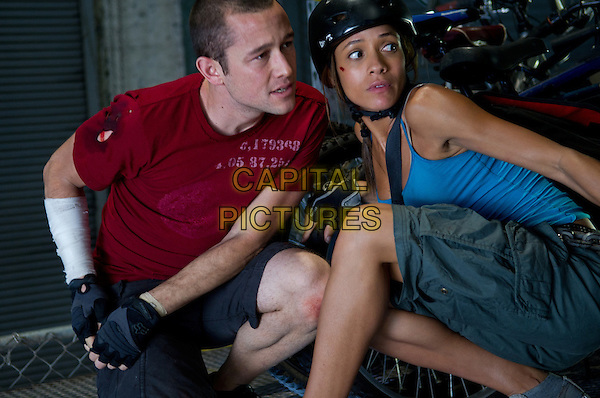 Joseph Gordon-Levitt & Dania Ramirez .in Premium Rush (2012).*Filmstill - Editorial Use Only*.CAP/FB.Supplied by Capital Pictures.