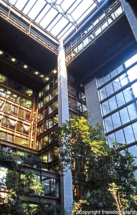 Kevin Roche: New York Ford Foundation Building. Interior.