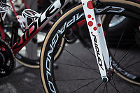 Tim Wellens (BEL/Lotto Soudal) pimped polka dots bike. <br /> <br /> Stage 4: Reims to Nancy (215km)<br /> 106th Tour de France 2019 (2.UWT)<br /> <br /> ©kramon