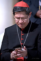 Cardinal Luis Antonio Tagle.Pope Francis during of a weekly general audience at St Peter's square in Vatican.September 27, 2017